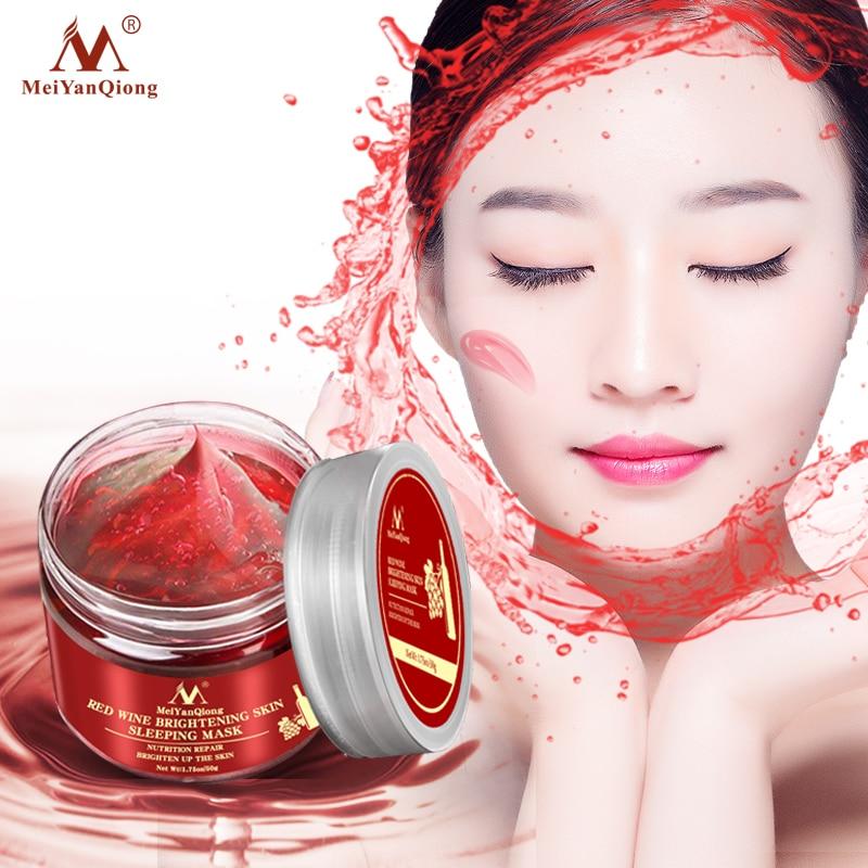 Red Wine Essence Sleeping Facial Mask Whitening Nourishing Mask Moisturizing Nutrition Repair Brighten Up The Skin Gel Night