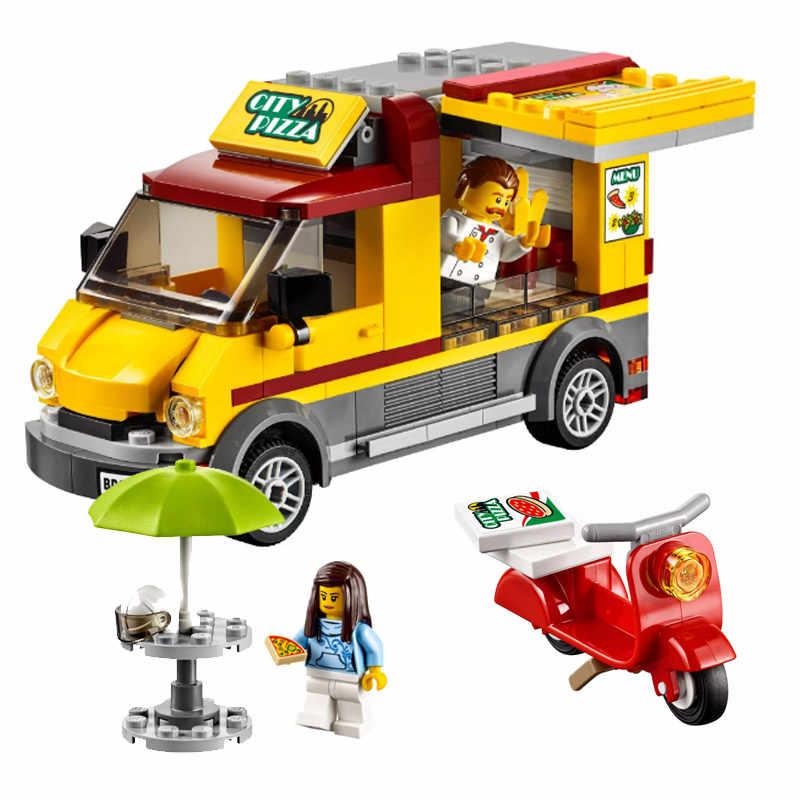 Bela 10648 City Series City Pizza Van Kitchen Space Figure Building Block 261pcs Bricks Toys Compatible With Bela City 60150