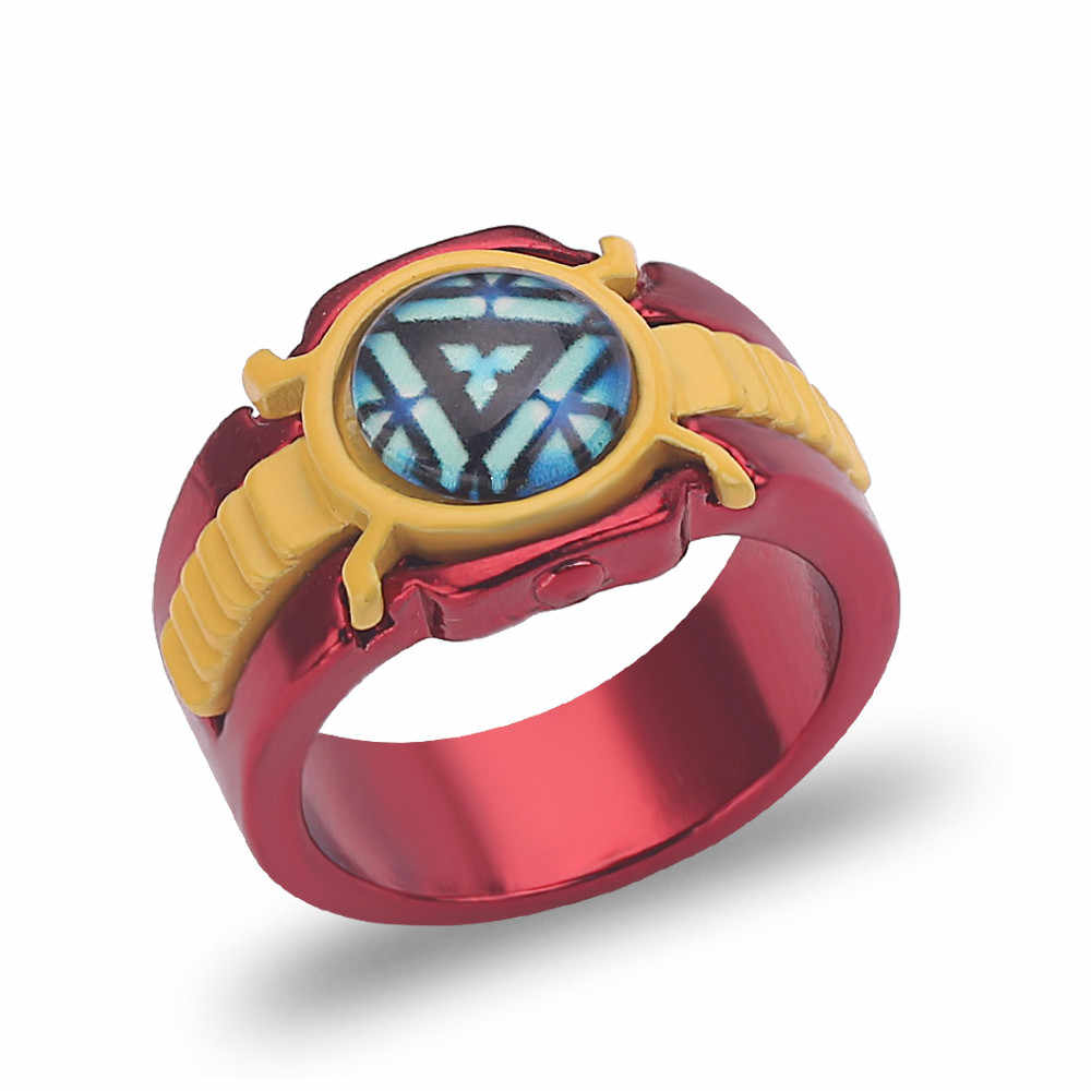 The Avengers 4 Iron Man Logo Ring Wonder Woman Cosplay Ring New Arrival Luminous rings high quality Woman Men Jewelry