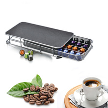 40 Compartments Coffee Pod Capsule Storage Rack Holder Metal Storage Stand Rack For Nespresso Coffee Shop Display new metal coffee pods holder iron chrome plating stand coffee capsule storage rack dolce gusto capsule free shipping