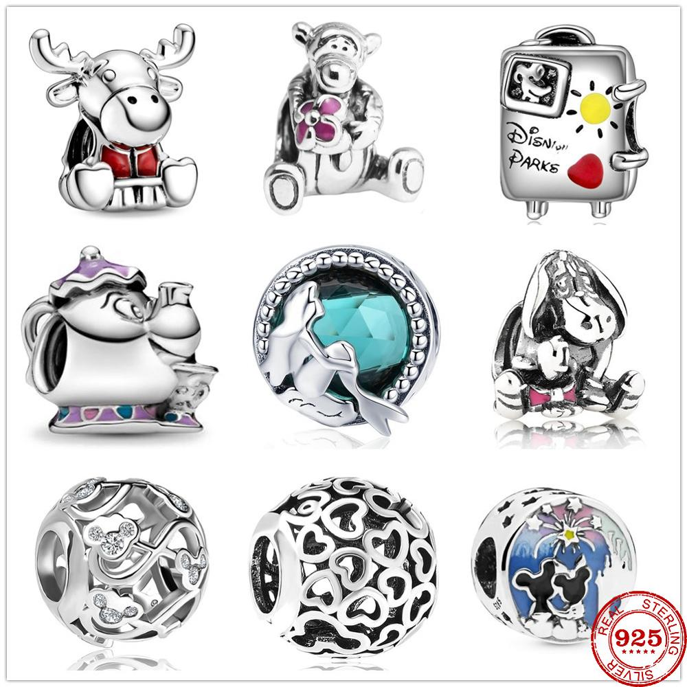 2020 New Mermaid Tiger Lady Teapot Charm Beads fit Original Pandora Charms Silver 925 Bracelet DIY Women fashion Jewelry making(China)