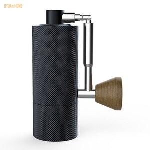 Image 1 - 1pc nano חדש מתקפל MYY48 אלומיניום נייד קפה מטחנת פלדה שחיקה סופר ידנית קפה מיל Dulex נושאות ממליץ