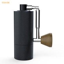 Molinillo de café portátil plegable de aluminio MYY48, molinillo de acero súper manual, rodamiento Dulex, 1 unidad