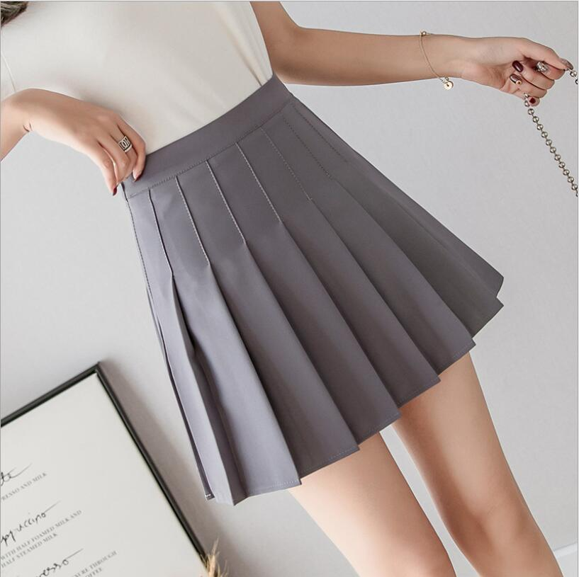 Women Pleated Skirt Harajuku Preppy Style Plaid Skirts Mini Cute Japanese School Uniforms Ladies Jupe Kawaii Skirt Saia Faldas