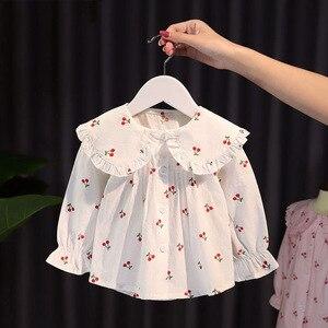 Image 2 - VFOCHI 2020 สาวใหม่เสื้อเด็กเสื้อ Ruffled ปลอกคอหญิงเสื้อแขนยาวสำหรับเด็กเสื้อผ้าเด็กสาว TOP TEE เสื้อ