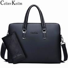 Celinv Koilm sacoche mallette en cuir pour hommes, sac à bandoulière de marque célèbre, sac à main pour ordinateur portable 14 pouces de bonne qualité