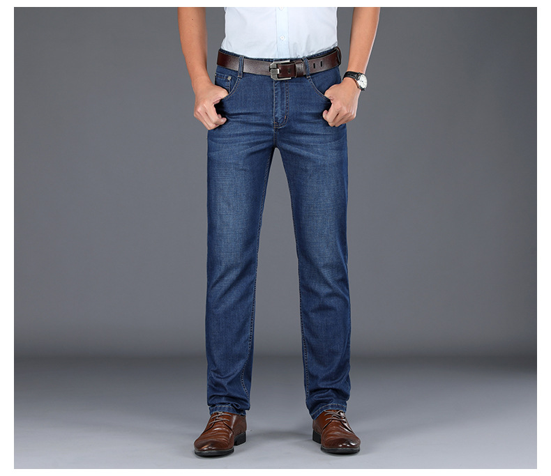 JS986J-Spring And Summer Jeans Men's Loose Straight Tube Men's Pants Business Pants