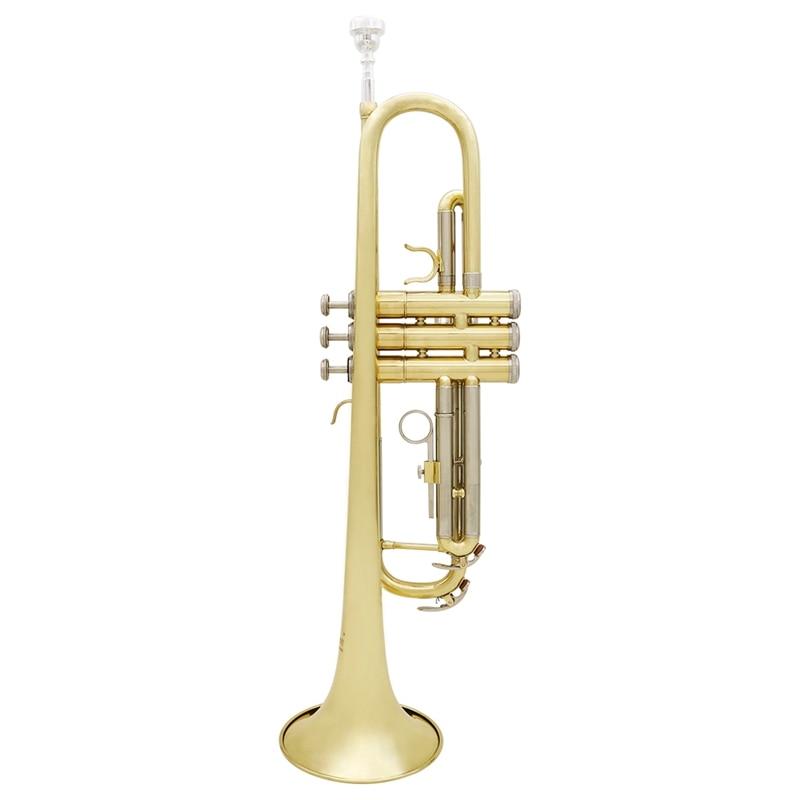 Slade Trompet Bb B Flat Duurzaam Messing Trompet Beginner Muziekinstrument met Mondstuk Handschoenen en Prachtige Gig Bag - 6