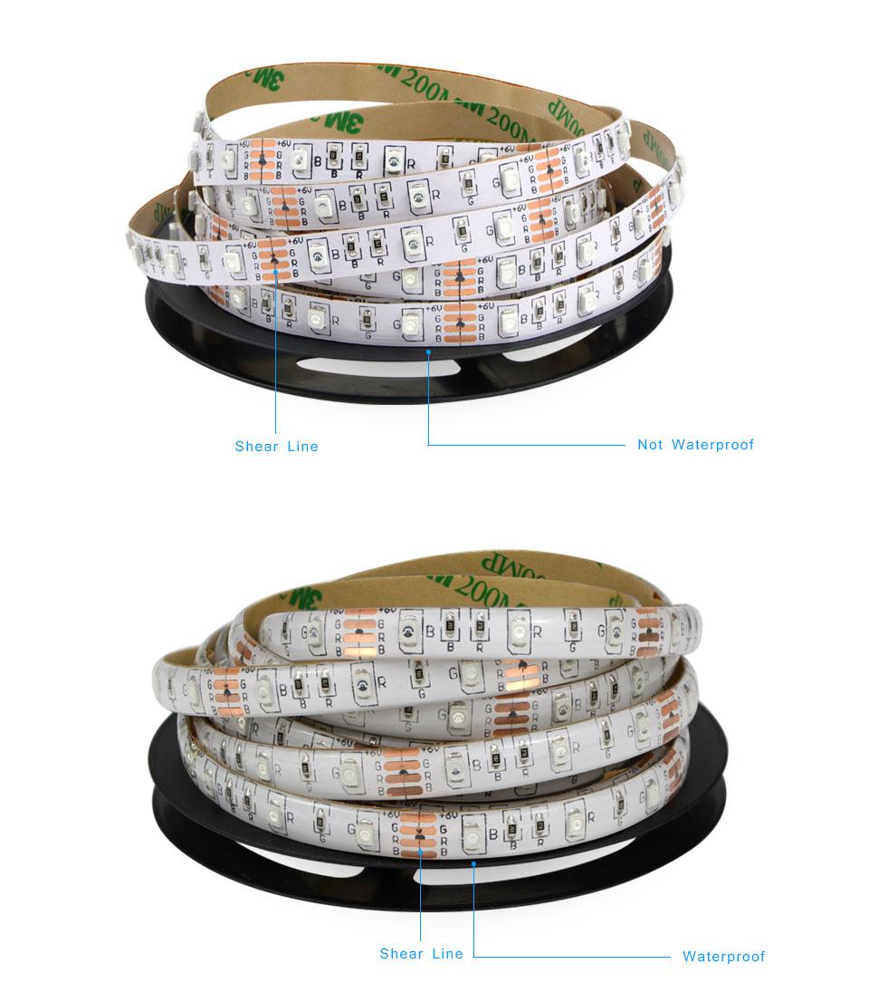 H844ad8b7d69f4bee88a7fdf0aebf2cd9g 50CM 1M 2M 3M 4M 5M LED TV light 2835SMD RGB LED strip Light For tv HDTV Neon Light Backlight lamp with 24 key Remote control