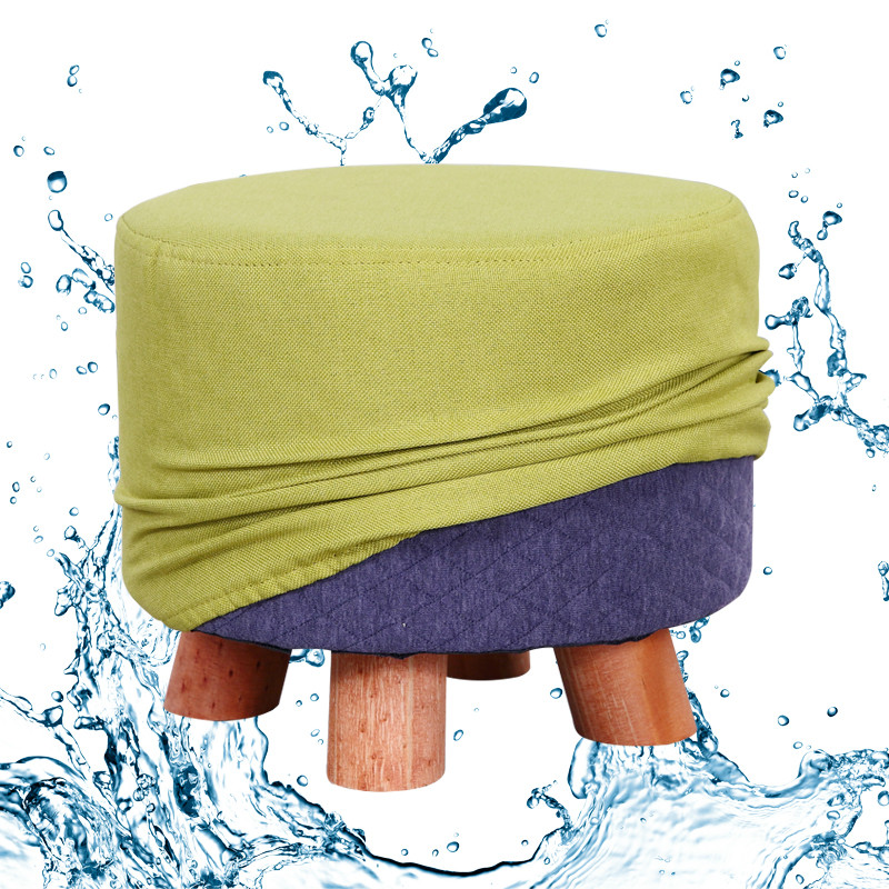 Fabric Stool Fashion Household Adult Living Room Stool Small Mound Sofa Stool Solid Wood Low Stool Small Chair Stool
