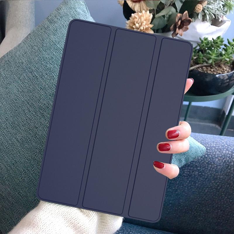 Navy Blue MULTI Funda iPad 7th Generation Case Tablet Pouch PU Leather Tri fold ebook Case For Apple iPad