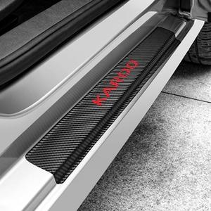 Coche Protector para placa de umbral de puerta etiqueta para Skoda KAROQ etiqueta engomada del coche accesorios de Interior de coche