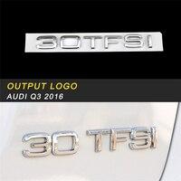 For Audi A4 A5 A7 A6 A8 Q3 Q7 Q5 Output Volume Badge Emblem Cover Trim Frame Sticker Exterior Accessories
