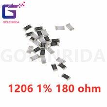 100PCS 1206 SMD Resistor 1% 180 ohm chip resistor 0.25W 1/4W 180R 181