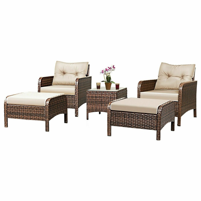 Patio Chairs Table Rattan Sofa