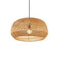 Vintage Chinesischen Stil Anhänger Licht Bambus Handmake Hanglamp Wohnzimmer Esszimmer Restaurant Cafe Hängen Lampe E27 Suspension