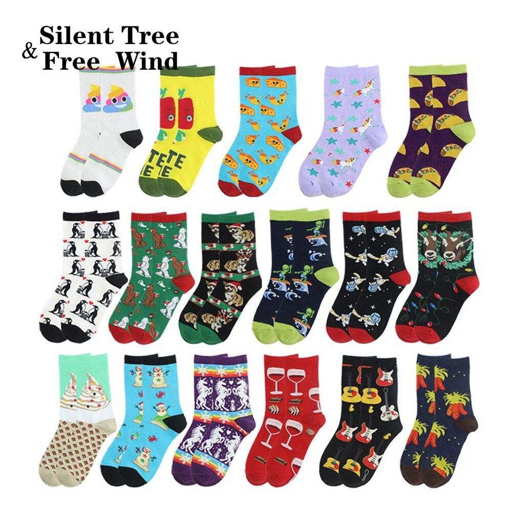 Christmas Unicorn Unisex Casual Pattern Crew Socks Dress Socks For Men And Women