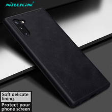 for Samsung Galaxy Note 10 5G Leather Case Nillkin Luruxy Vintage PU Leather Flip Cases Fundas for Samsung Galaxy Note 10 Covers nillkin protective pu leather pc flip open case for samsung g360 black