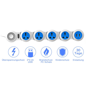 Image 3 - Удлинитель питания с 4 электрическими универсальными розетками и USB кабелем длиной 1,8 м