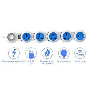 Image 3 - Güç şeridi 4 elektrikli evrensel prizler fişler dalgalanma koruma soketi USB 1.8m uzatma kablosu uzay tasarrufu pratik