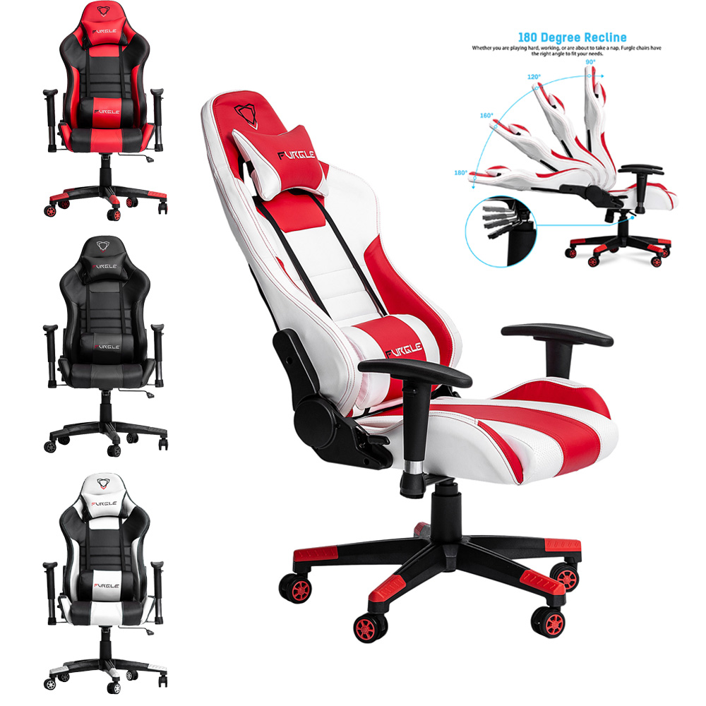 Furgle WCG Lift Computer Chair Gaming Swivel Chair With Leather Cushion For Office/Game