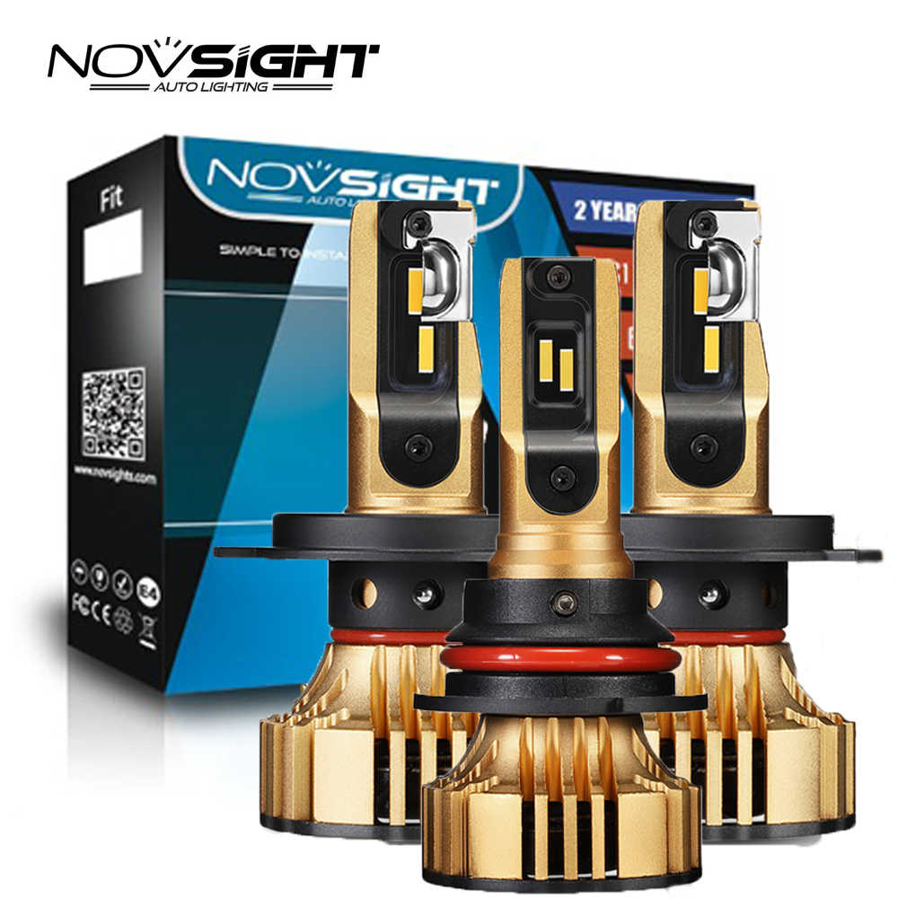 NOVSIGHT H4 LED H7 Headlights H11 H8 HB4 H1 H3 HB3 H13 HB5 Car Led Bulbs Headlight 72W 12000LM Control Driver Car Styling led