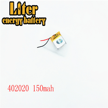 402020 150mAh 382020 3.7V lipo rechargeable battery Li ion cell for MP3 bluetooth watch MID headset headphon video pen image