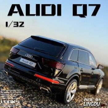 Бесплатная доставка, масштаб 132, новинка, спортивный внедорожник Audi Q7, автомобиль с отрывным звуком светильник кой, детский подарок, коллекционная литой Игрушечная модель