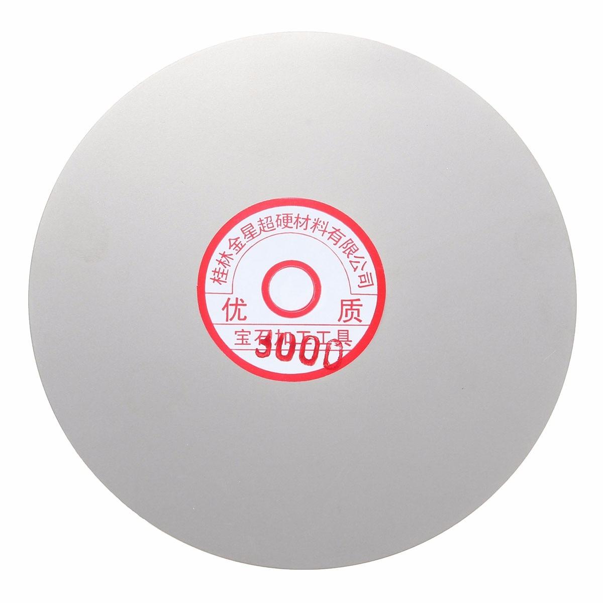 3pcs Polishing Wheel Disc Set 6'' 600 1500 3000 Grit Diamond Coated Flat Lap For Jewelry Glass Rock Diamond Coated Discs