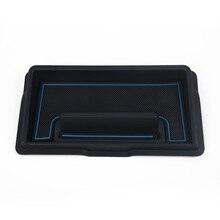 Car Dashboard Storage Box Black + Blue For Suzuki Jimny 2019 2020 Interior Container Accessories