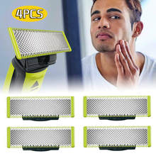 4 pacote lâmina de substituição para philips oneblade shavers segurança lâminas de barbear aço inoxidável cabeça barba barbeador para o sexo masculino