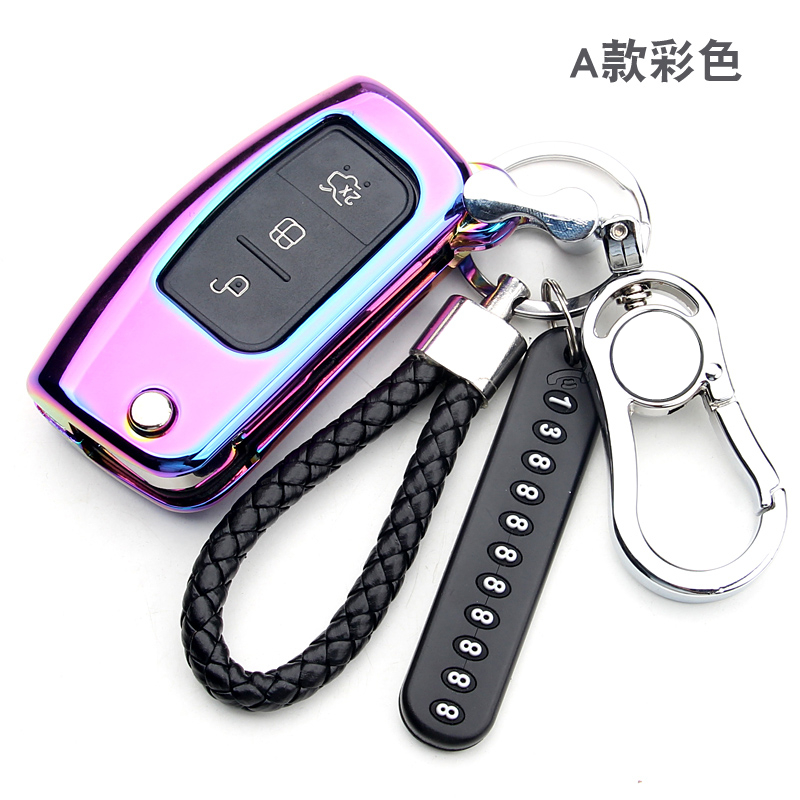 Zinc alloy Key Remote Cover Case Protect For Ford Fiesta Focus 2 Ecosport Kuga Escape 3 Buttons Car Flip Key Accessaries