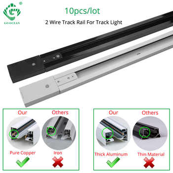 Track Rail 1m Track Light Fitting Aluminum 1 meter 2 wire Connector System Tracks Fixture black white Universal  Rails 10pcs/lot - DISCOUNT ITEM  15% OFF All Category