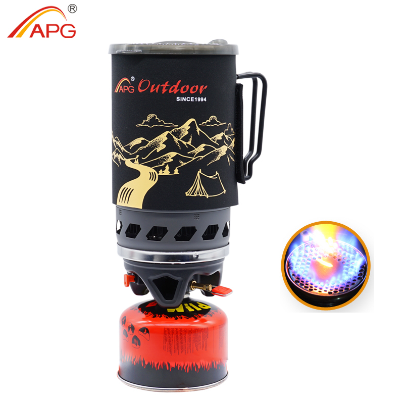 APG 1400ml camping gas stove fires cooking System and portable gas burners Горелка