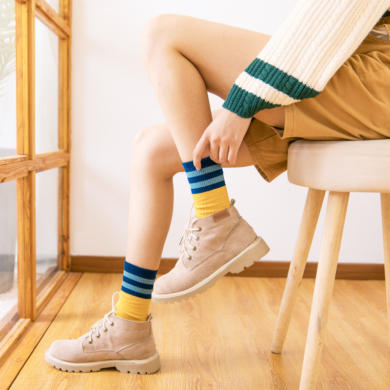 2019 Real Funny Socks Japan Japanese Autumn And Winter Cotton Socks Color Fashion Sen Short Boots Long Tube College Wind Girl