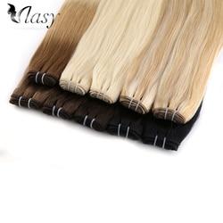 Extensiones de pelo ondulado Vlasy, hechas a máquina, extensiones de trama de cabello humano Remy 100%, 20 ''24'' 100 g/pc