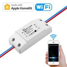 Homekit casa inteligente wifi disjuntor casa diy relé elétrico interruptor wi-fi módulo de automação 90-250v ac (50/60hz) 10a