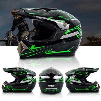 Casco de Motocross todoterreno profesional ATV Cross cascos MTB DH casco de Moto de carreras Dirt Bike Capacete de Moto casco