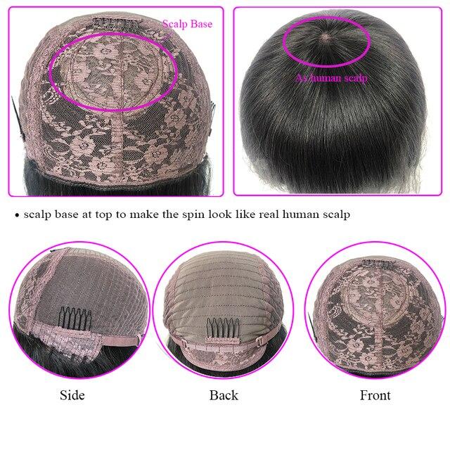 خصلات الشعر المستعار البرازيلي الإنسان مع الانفجارات فروة الرأس قاعدة أعلى آلة كاملة صنع شعر مستعار 180% شعر مستعار الجسم موجة مع الانفجارات للنساء فلورسيزون 6