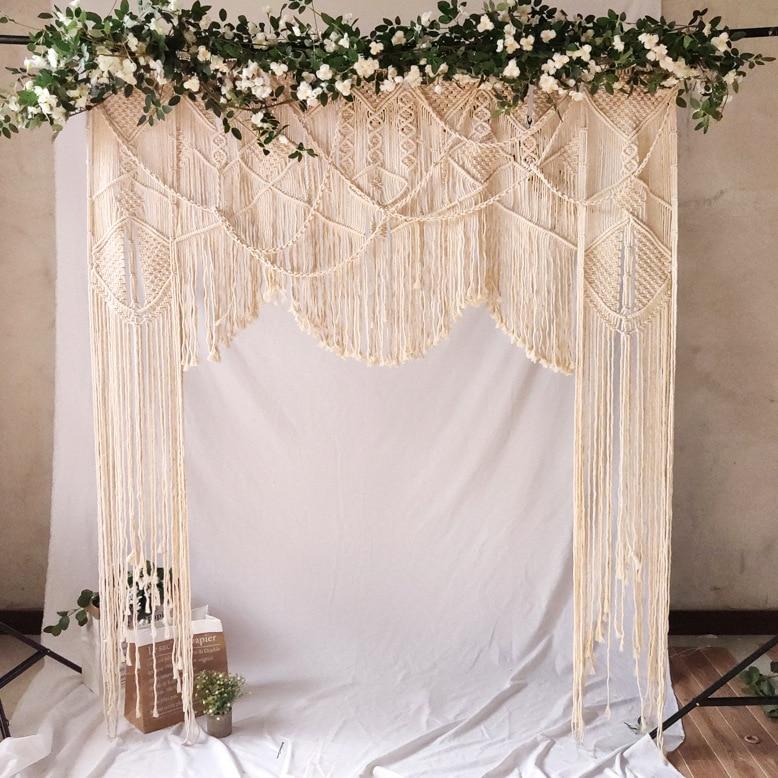 Hand woven wandteppich hochzeit szene decoration180 * 200cm Böhmischen vorhang hause dekoration wand hängende tapestry - 2