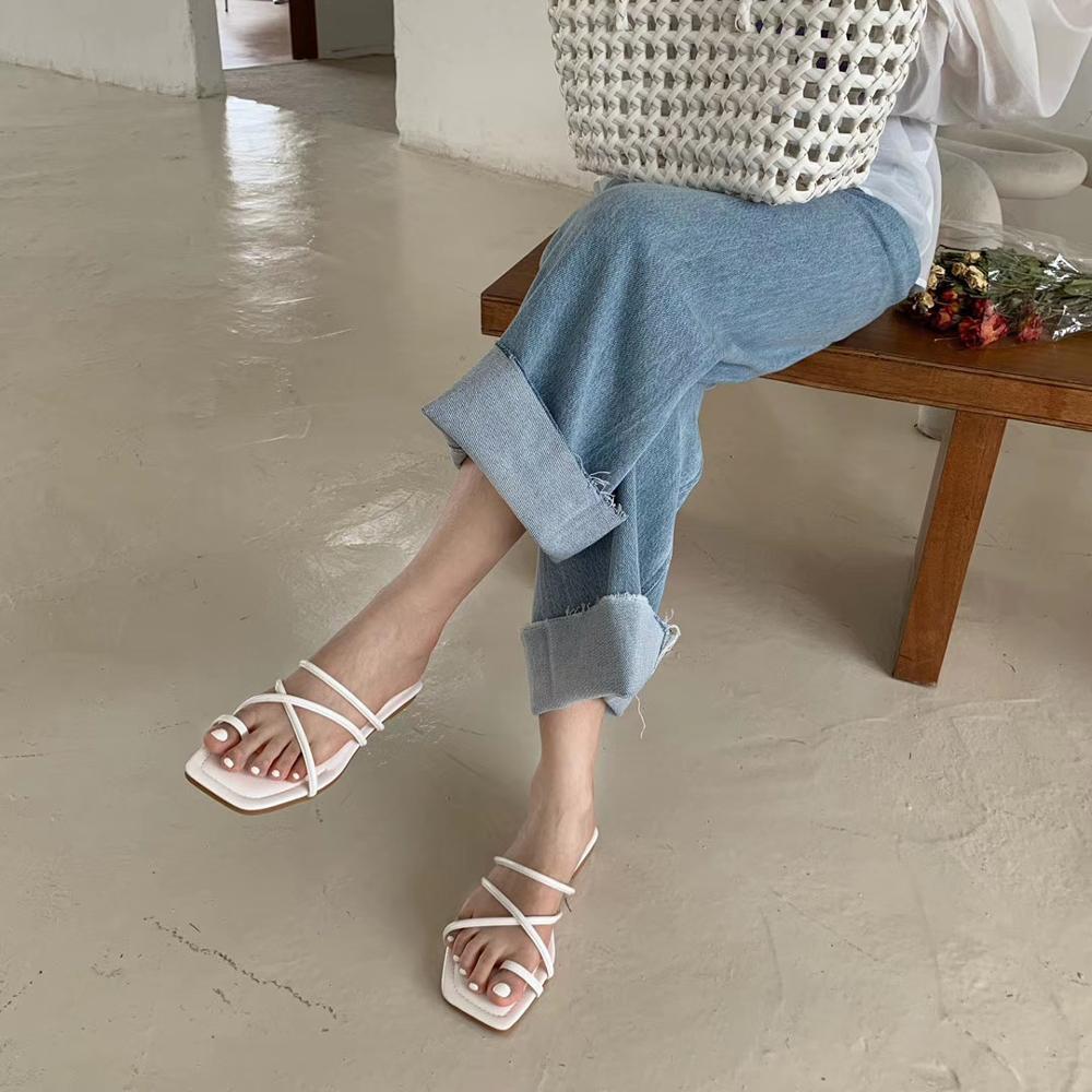 Toppies Women summer sandals women flat shoes kroean fashion comfortable rubber shoes