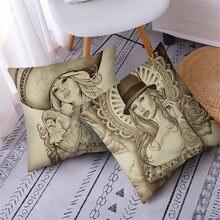 Декоративная подушка fuwatacchi в стиле Харадзюку наволочки