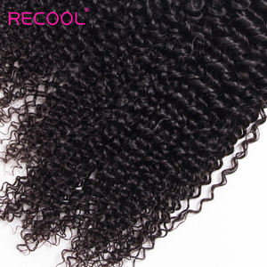 Image 3 - Recool Hair Curly Bundles With Closure 6X6 5x5 Lace Closure With Bundles Remy Brazilian Hair Weave 3 Bundles With Closure