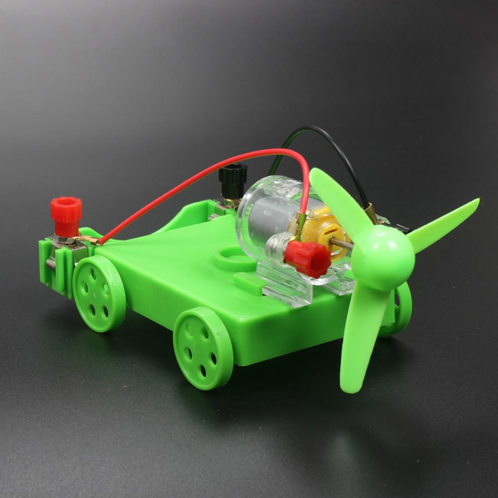 DIY Assembly Electric Car Wind Power Experiment Physics Learning Student Toy  Safe To Operate Educational Toys Easy For Students