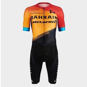 Pro team 2020 Baréin nuevo traje de verano skinsuit hombres traje triathon Culote de ciclista manga ropa de ciclismo mtb deportes de bicicleta running suit