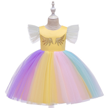 Kids Girls Dresses 2020 Rainbow Sequins Wedding Princess Dress Baby Girls Birthday Party Dresses For 2 6 8 10Years Girls Clothes пати бум колпак party girls 6 шт