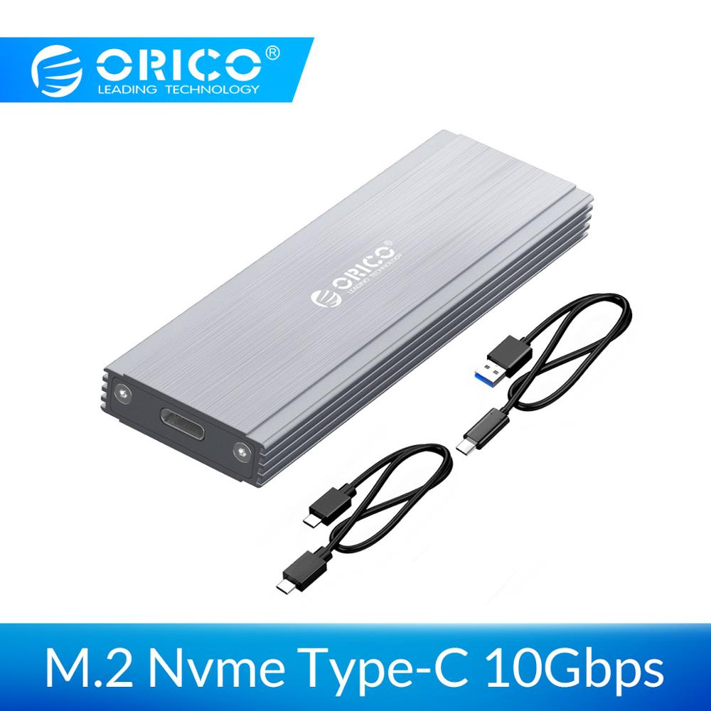 ORICO NVME M.2 <font><b>SSD</b></font> Enclosure Case USB3.1 GEN2 10Gbps <font><b>SSD</b></font> Mobile Hard Disk Drive <font><b>Box</b></font> External Enclosure Case for <font><b>M2</b></font> <font><b>SSD</b></font> Case image