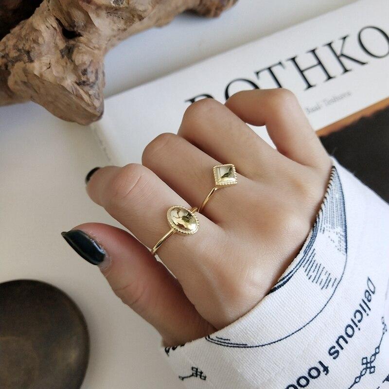 LouLeur-bague brillante en argent sterling 925, bague ovale, diamant brillant, original, design créatif, bague ouverte exquise pour femmes, bijoux fins