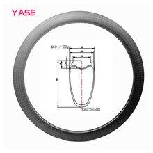 цена на YASE 700C Disc brake Carbon Bike Rims 55x30mm 700C Road Tubeless H ookless carbon rim wheel carbon disc rims bicycle whee