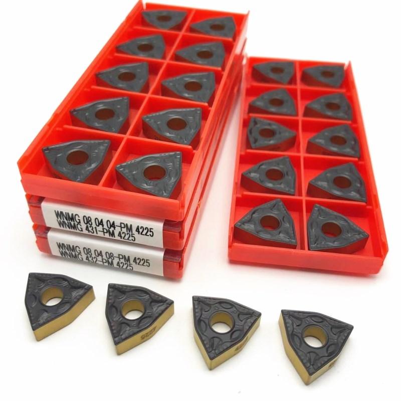 WNMG080408 WNMG080404 PM 4225 Carbide Tool Metal Turning Tool CNC Cutting Tool Lathe Tools WNMG080408 PM4225 Turning Tool